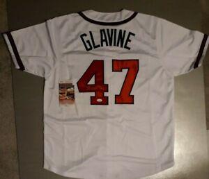 TOM GLAVINE  SIGNED  CUSTOM  XL  ATLANTA MINT, WHITE JERSEY, JSA COA #WPP748127