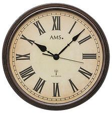 AMS 5977 Wanduhr Funkuhr Analog Metallgehäuse Mineralglas Durchmesser 42 cm