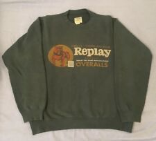 Felpa Sweater Sweatshirt REPLAY Vintage Bulldog Green Cotton Cotone Verde Small