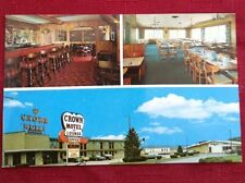 Crown Motel, South of Exit 7, Ohio Turnpike, Postcard New
