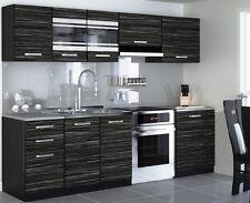 Brand New Modern kitchen Complete set 240cm 7units/cabinets KING'S  EBONY cheap.