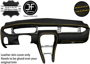 YELLOW STITCH FULL DASH DASHBOARD REAL LEATHER COVER FOR JAGUAR X-TYPE 2001-2009