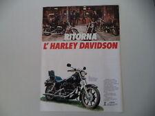 advertising Pubblicità 1981 MOTO HARLEY DAVIDSON FXB 1340