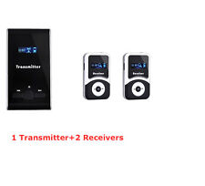 195MHz Wireless Tour Guide System Teaching Training Visit Tourism & 2 Receivers