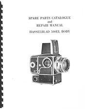 Hasselblad 500EL Camera Body Repair and Parts Manual