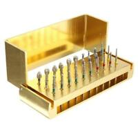 30pc Dental Diamond Burs Drill & Disinfection Block High Speed Handpieces Holder