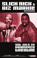 Slick Rick / Biz Markie 2012 New York City Concert Tour Poster-Hip Hop,Rap Music