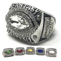 NO YEAR Fantasy Football Championship Ring SIZE 9-15 Football Shaped Stone