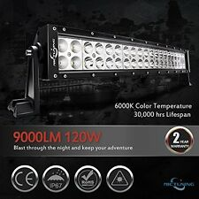 Large Powerful Curved LED Light Bar Combo Off Road Lamp 22 Inch 120W