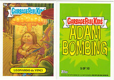 "2013 GARBAGE PAIL KIDS BNS3  ""LEONARDO DA VINCI"" #5 STICKER-ADAM BOMBING"