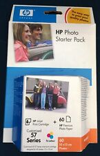 HP 57 Tri-Colour Ink Original - Box Date 2007 + 60 Sheets of Photo Paper Q7942AE