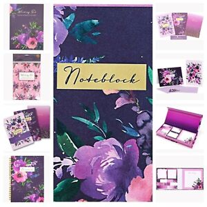 Wild Roses Stationery  (purple/pink)