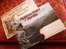Lot 2 FOLDING POST CARD VINTAGE COLOR COLORADO DENVER MOUNTAIN PARKS