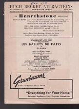 Les Ballets de Paris in Carmen 1951 Program Metropolitan Theatre Seattle Wa