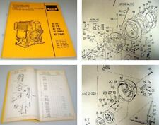 Hatz E71 E75 E79 E780 E786 Motor Ersatzteilliste 1990 parts list