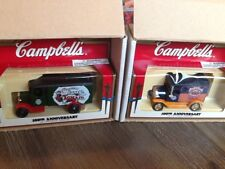 DIECAST MODEL SOUVENIR 2 CAMPBELL SOUP NEW OLD STOCK IN BOX TRUCKS