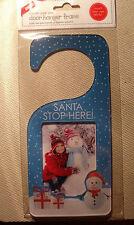 SANTA STOP HERE CHRISTMAS DOOR HANGER add your own 90x60 PH0TO