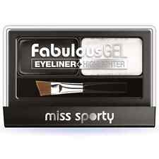 1 X Coty Miss Sporty Fabulous GEL Eyeliner Highlighter 001 Black and White