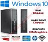 Cheap HP 8100 SFF Desktop PC Core i3 4GB 8GB RAM HDD SSD Windows 10 Computer