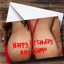 Big Boobs Personalizado Cumpleaños tarjeta de saludos