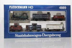 H0 Fleischmann Dampflok 4889 Zugset Staatsbahnw. m Übergabezug analog DC OVP/J64