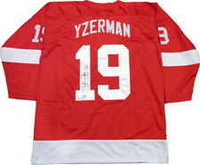 Steve Yzerman Signed Red Wings Custom Red Jersey Size XL LEAF Authentication