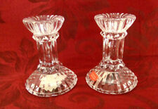 "NEW Pair Exquisite Mikasa Jubilation Crystal Candlesticks 3 3/4"" x 3"""