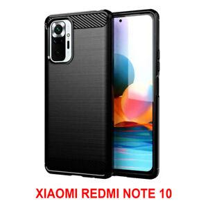 Coque Silicone Fibre de Carbone Verre Trempé Xiaomi Redmi Note 10/ Note 10S