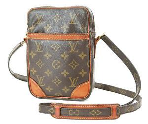 Authentic LOUIS VUITTON Danube Monogram Crossbody Shoulder Bag Purse #36923