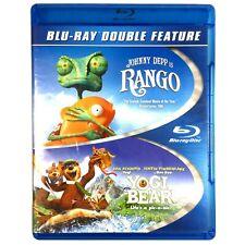 Rango / Yogi Bear (2-Disc Blu-ray, 2010, Double Feat.) Like New !   Johnny Depp