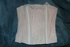 H & M Waist cincher Boned Corset Bustier Lingerie Shaper M pink & white