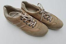 ECCO CREAM Arch Support Leather Fashion Sneakers Size 40