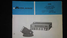 Midland 77-200 m CB mobile radio Service Manual Original Factory Repair Book