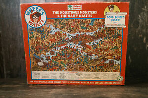 VINTAGE MICHAEL STANFIELD 'WHERE'S WALLY' DOUBLE SIDED 300 PIECE JIGSAW PUZZLE