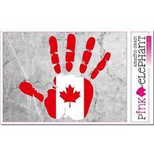 CANADA - main paume Doigt Imprimer étiquette Drapeau DESSIN ONTARIO
