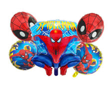 Spiderman Foil Balloons for Boy Kids Toddler Birthday Party Decoration 5pcs