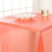 Disposable Table Cover Red Cloth Plastic PVC Tablecloth Birthday Party DS