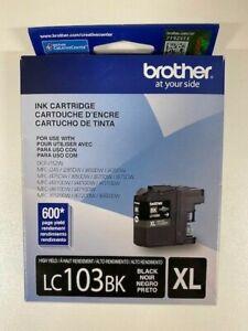 Genuine Brother LC103BK XL High-Yield Ink Cartridge - Black - Sealed