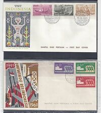 INDONESIA 1961 - 1980 COLLECTION OF 20 FDC'S ALL DIFFERENT WITH CACHETS