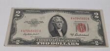 $2  1953 Red Seal United States Note Dollar Bill