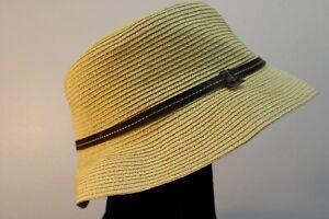 Nine West Women's Fedora Hat 100% Recycled Paper Straw size L / XL