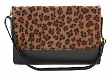 CherriKiss Black & Leopard Print Purse Clutch Bag