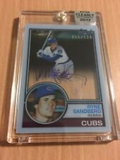 2017 Topps Clearly Authentic Ryne Sandberg Rookie Reprint AUTOGRAPH /110