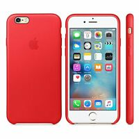 Original Apple Leather Cover Case For iPhone 6 Plus iPhone 6s Plus Red MKXG2BZ/A