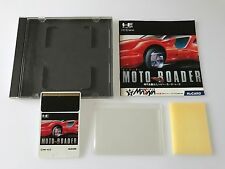 PC Engine Hu-Card Soft Moto Roader TurboGrafx JAPAN Import Game w/ Case & Manual