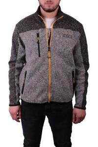 RAY Sweater Jacket With Yellow Accents Black