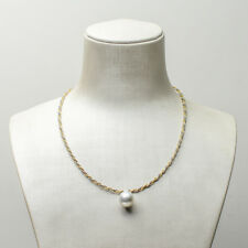 12.2mm Real White Cultured South Sea Pearl Pendant Necklace 925 Sterling Silver