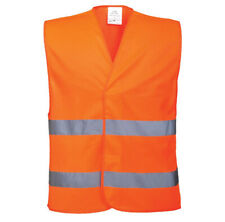 Hi Vis Orange High Viz Visibility Waistcoat Safety Vest Jacket EN471 Work Size