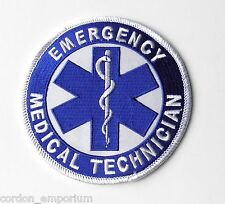 EMT EMERGENCY MEDICAL TECHNICIAN FIRST RESPONDER EMBROIDERED PATCH 3.75 INCHES