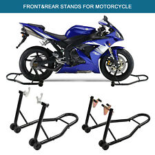 Motorcycle Bike Stand Front & Rear Swingarm Lift Head Front Forklift Auto Black